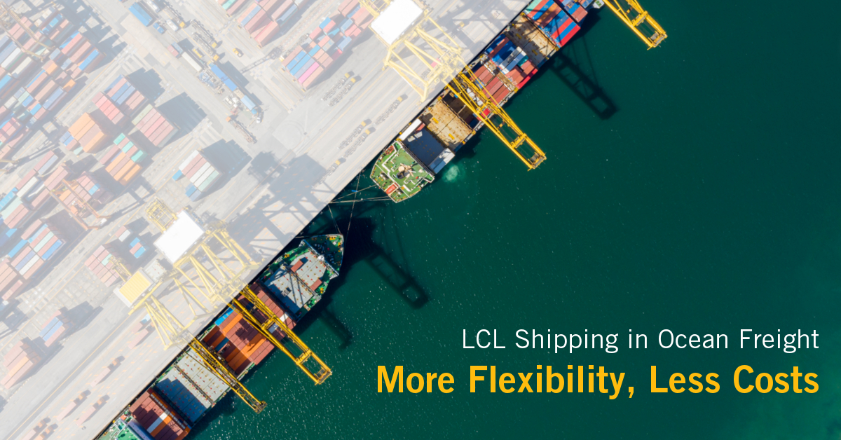 Ocean Freight consists of two modalities: One being FCL and one LCL. Below article explains the advantages of LCL shipping.
