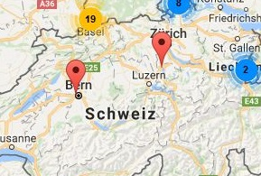 Rhenus Locations in Switzerland