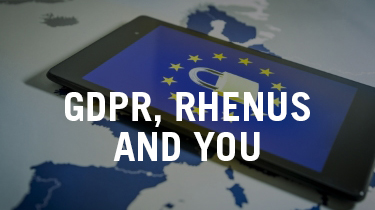 GDPR, Rhenus and You